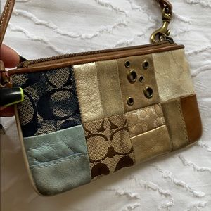 Small coach wrist wallet